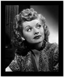 Lucille Ball Looking Up in Blouse Portrait High Quality Photo