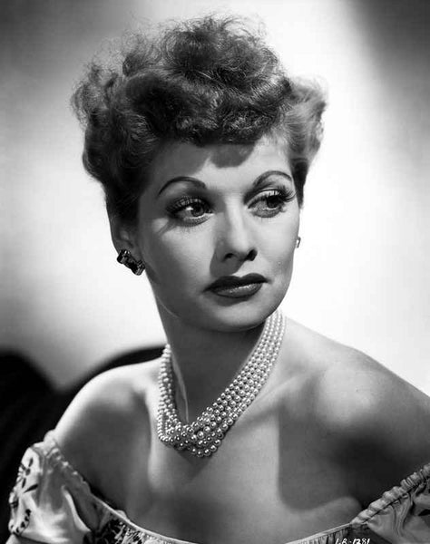 Lucille Ball Portrait in Black and White Premium Art Print