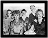Lucille Ball Posed Together with the Cast in Group Picture High Quality Photo