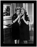 Lucille Ball with Woman wearing Black Dress High Quality Photo