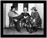 Gene Autry Seated on Chair with Two Men High Quality Photo