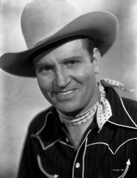 Gene Autry smiling in Western Hat Premium Art Print