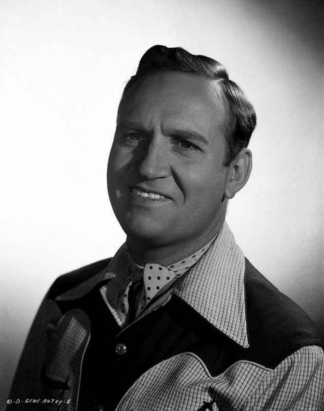 Gene Autry smiling in Western Attire Premium Art Print