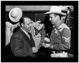 Gene Autry Talking to a Man in Suit High Quality Photo