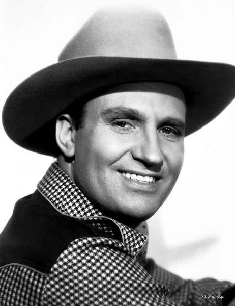 Gene Autry smiling in Westerner Outfit Premium Art Print