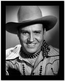 Gene Autry smiling in Striped Shirt and Cowboy Hat High Quality Photo