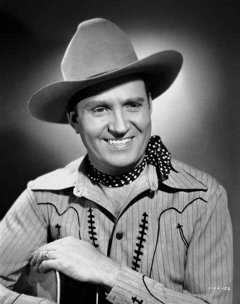 Gene Autry smiling and Holding a Guitar Premium Art Print