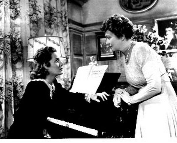 Bill Of Divorcement Two Woman on the Piano Scene Excerpt from Film Premium Art Print