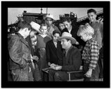 Gene Autry Surrounded by a Crowd High Quality Photo