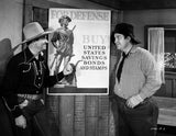 Gene Autry Talking to a Man in Shirt Premium Art Print