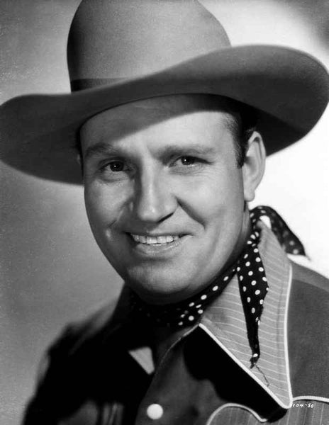 Gene Autry smiling in a Black and White Portrait Premium Art Print