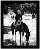 Gene Autry Riding a Horse Drinking Water High Quality Photo