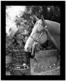 Gene Autry Petting a Horse in Western Outfit High Quality Photo