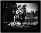 Gene Autry Riding a Horse and Carying a Guitar High Quality Photo