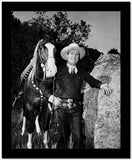 Gene Autry Leaning on a Big Rock High Quality Photo