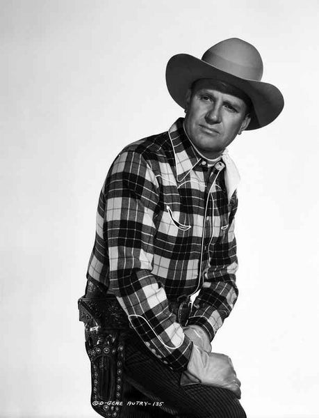 Gene Autry wearing Cowboy Outfit with White Background Premium Art Print