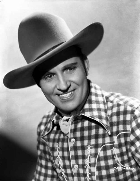Gene Autry smiling in Western Outfit Premium Art Print