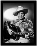 Gene Autry Playing the Guitar in Black and White Portrait High Quality Photo