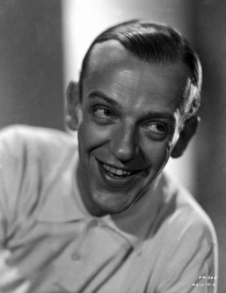 Fred Astaire Posed in White Shirt Black and White Premium Art Print