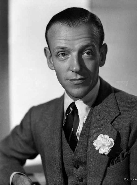 Fred Astaire Close Up Portrait in Black and White Premium Art Print