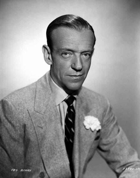 Fred Astaire Posed in Formal Suit Black and White Premium Art Print