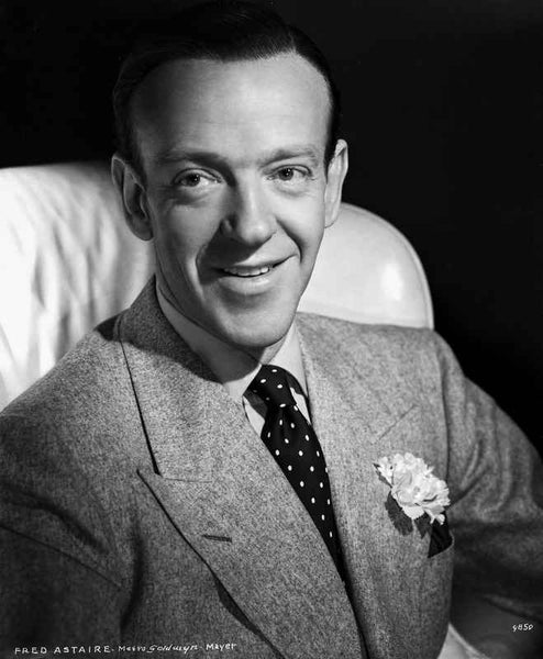 Fred Astaire Seated in Formal Suit Black and White Premium Art Print