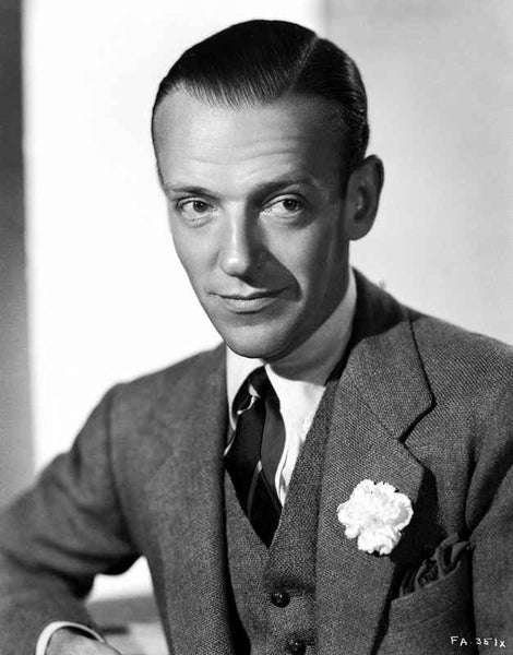 Fred Astaire Posed in Formal Suit in Black and White Premium Art Print