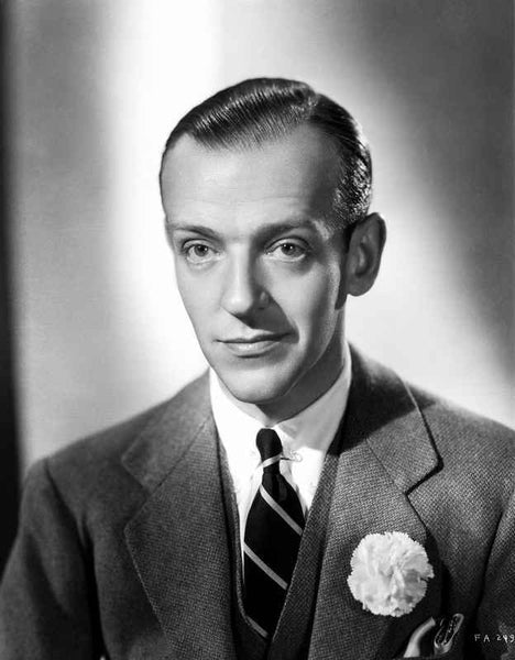 Fred Astaire Posed in Classic Black and White Portrait Premium Art Print