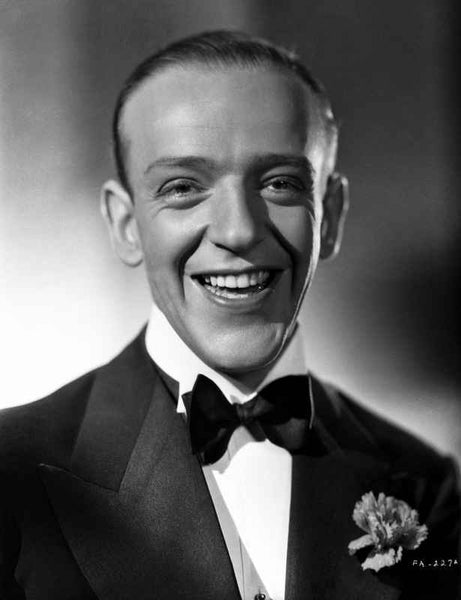 Fred Astaire smiling in Classic Black and White Portrait Premium Art Print