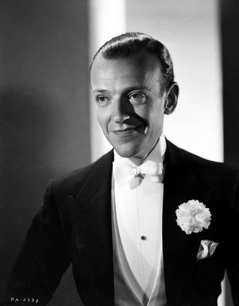 Fred Astaire Posed Smile in Black and White Premium Art Print