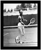 Fred Astaire Playing Tennis in Black and White Portrait High Quality Photo
