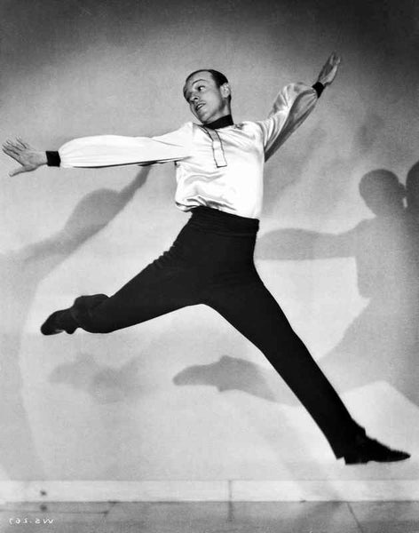 Fred Astaire Dancing in White Shirt and Black Shoes Premium Art Print