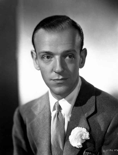 Fred Astaire in Formal Outfit Black and White Portrait Premium Art Print