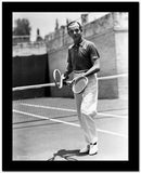 Fred Astaire Holding a Tennis Racket in Black and White High Quality Photo