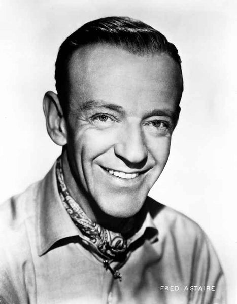 Fred Astaire with Spontaneous Smile in Shirt Premium Art Print