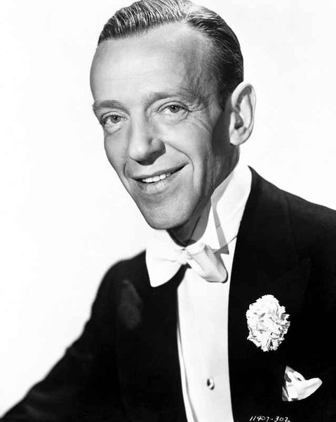 Fred Astaire Posed and smiling in White Tie Premium Art Print