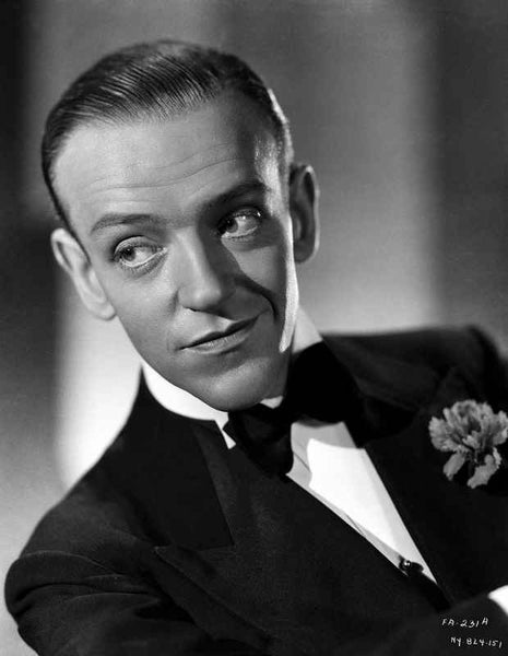 Fred Astaire smiling in Suit and Black Bow Tie Premium Art Print