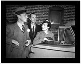 Fred Astaire standing Beside Car in Black and White High Quality Photo