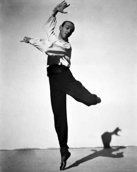 Fred Astaire Dancing Ballet in Black and White Shirt Premium Art Print