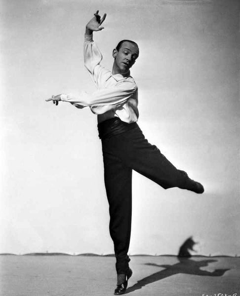 Fred Astaire Dancing Ballet in Black Shoes Premium Art Print