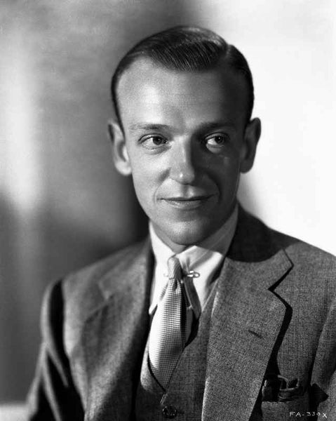 Fred Astaire with Posed Smile in Black and White Premium Art Print