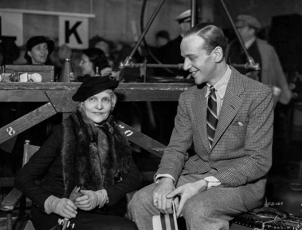Fred Astaire Seated in Suit with Girl Premium Art Print
