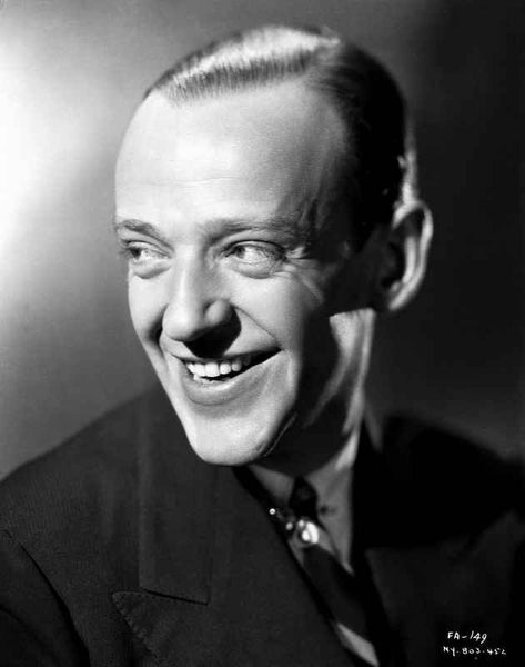 Fred Astaire Happy in Suit Premium Art Print