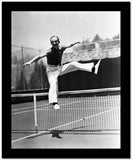 Fred Astaire Jumped Over Tennis Net in Black and White High Quality Photo