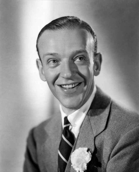 Fred Astaire smiling in Formal Attire Premium Art Print