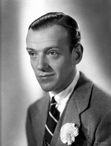 Fred Astaire Posed in Black and White Premium Art Print