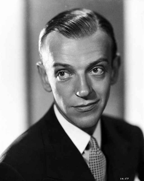 Fred Astaire Posed with a Smile in Black and White Premium Art Print