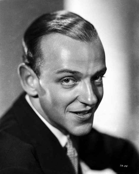 Fred Astaire smiling in Black Suit Premium Art Print