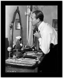 Fred Astaire Fixing Tie in Black and White High Quality Photo
