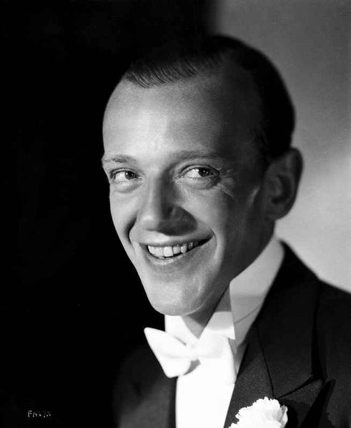 Fred Astaire smiling in White Bow Tie Premium Art Print